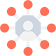 decorative icon for social media posting services